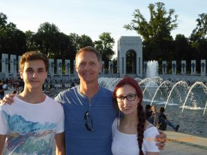 Photo of Mike and his kids in Washington DC