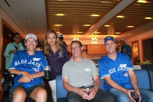ALS family at a Blue Jays Game