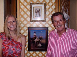 Carol Skinner and Peter Sharman smiling at the camera