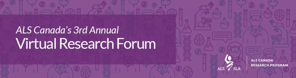 Banner image for the 3rd Annual Virtual Research Forum with science icons