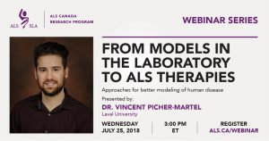 Webinar artwork with information and headshot of Vincent Picher-Martel