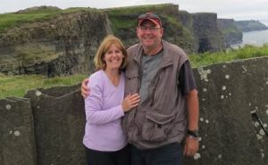 Scott and Martha Williams at the Cliffs of Moher
