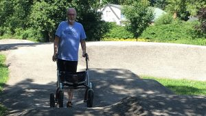 Alan on Brockville's bicycle pump track