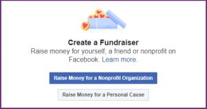 Facebook Fundraiser Options - Border Added
